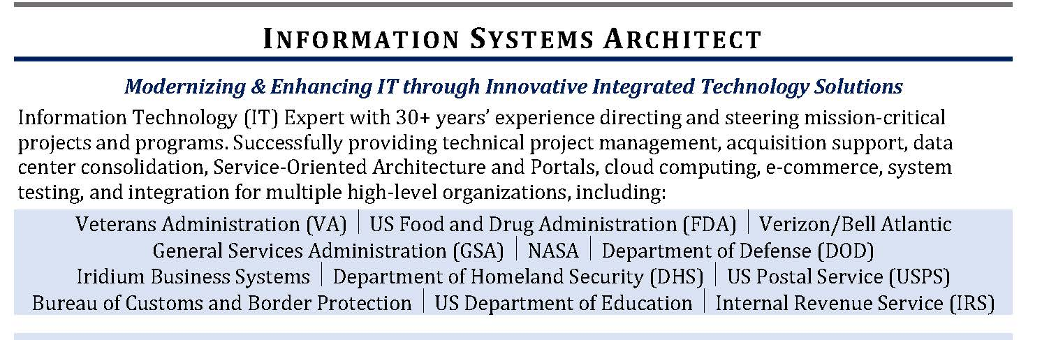 Information Systems resume